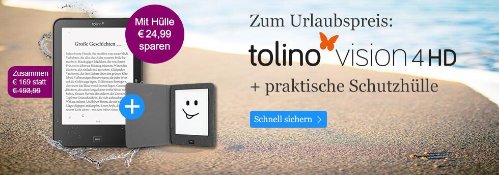Der tolino vision 4 HD mit Hülle nur 169 Euro bei eBook.de