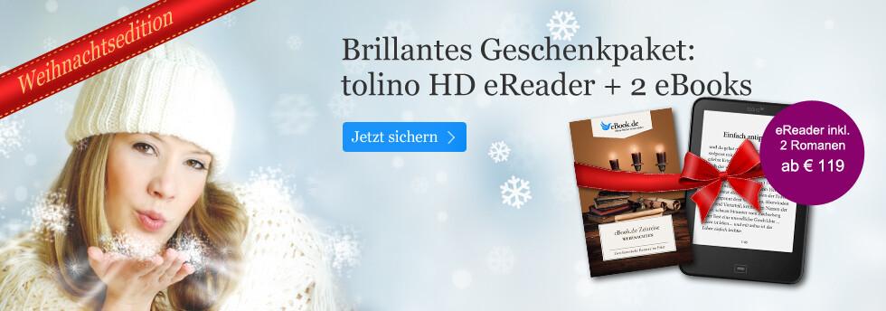tolino eReader mit zwei eBooks im Paket: Die eBook.de Weihnachtsedition