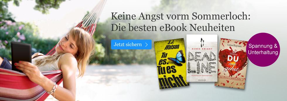 Spannende eBook Neuheiten bei eBook.de