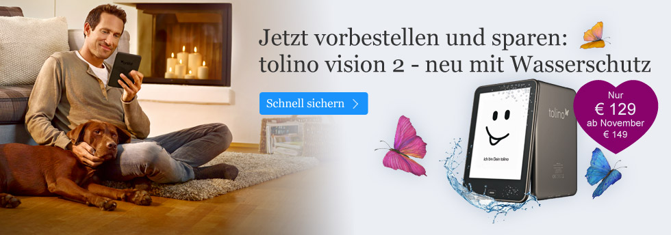 tolino vision 2 vorbestellen