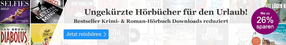 Ungekürzte Hörbuch Downloads reduziert bei eBook.de