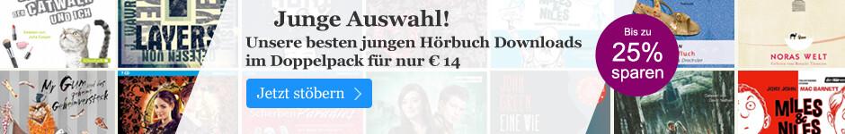 Zwei junge Hörbuch Downloads im Paket nur € 14
