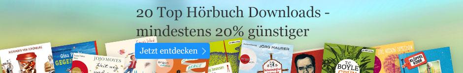 20 Top Hörbuch Downloads mindestens 20% reduziert!