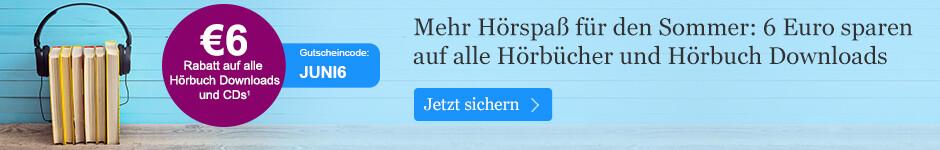 Ihr 6 Euro Hörbuch Gutschein für den Sommer bei eBook.de