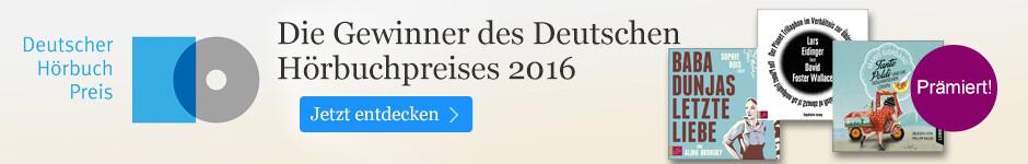 Der Deutsche Hörbuchpreis 2016 bei eBook.de