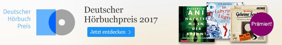 Deutscher Hörbuchpreis 2017 - die Gewinner bei eBook.de