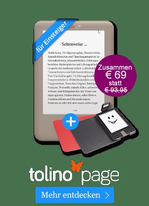 tolino page für 69 Euro inkl. praktischer Lichthülle!