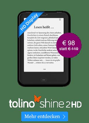 eReader tolino shine 2 HD - jetzt für 98 €