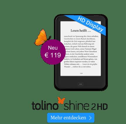 eReader tolino shine 2 HD für 119 EUR