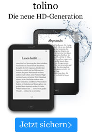 Die neuen tolino eBook Reader mit HD-Display.