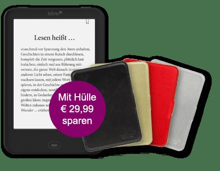 eReader tolino shine 2 HD mit Hülle nur 119 Euro