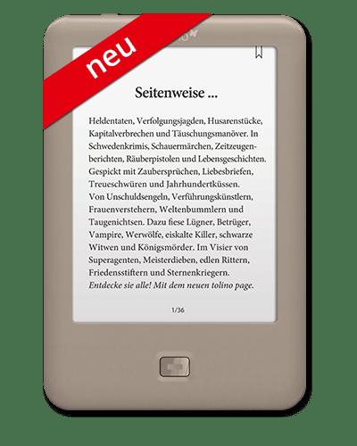 tolino page - der Einstieg in die Welt des digitalen Lesens