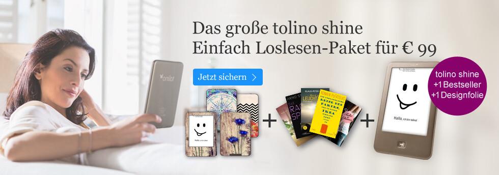 tolino shine im Einfach Loslesen Paket von eBook.de