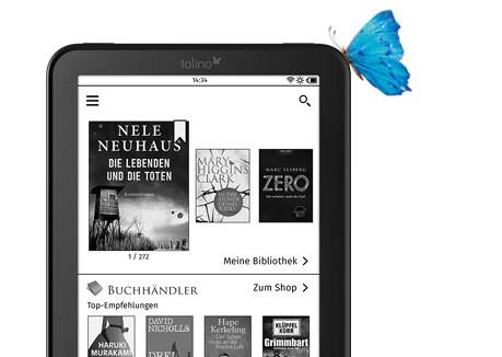Mit tolino vision 4 HD überall ebooks kaufen