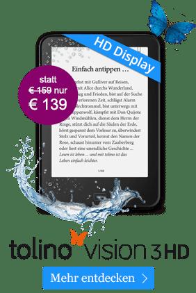 eBook Reader tolino vision 3 für 139 EUR