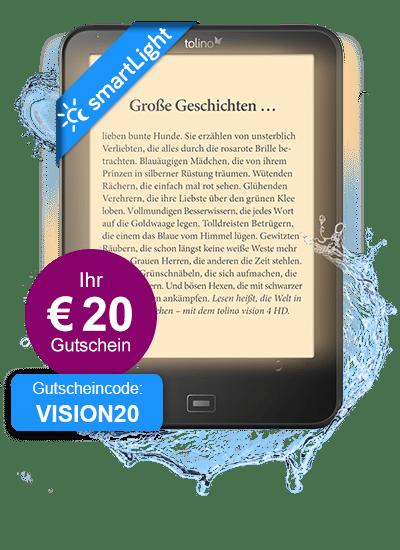 eReader tolino vision 4 HD mit smartLight - mit € 20 - Gutschein für € 159