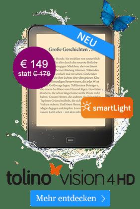 eReader tolino vision 4 HD mit smartLight für 149 €