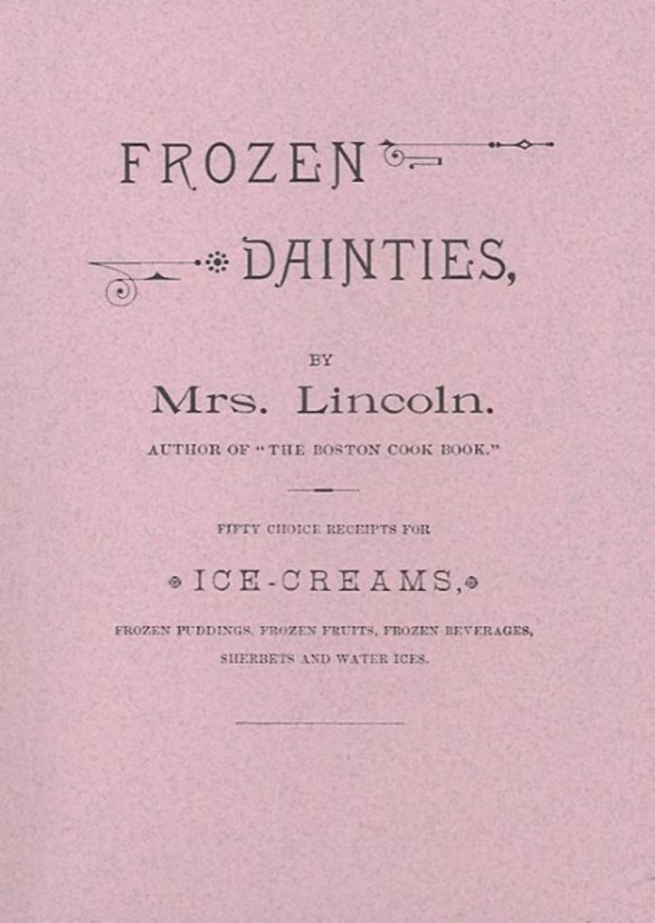 Frozen Dainties als Taschenbuch