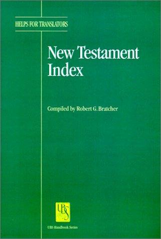 New Testament Index als Taschenbuch