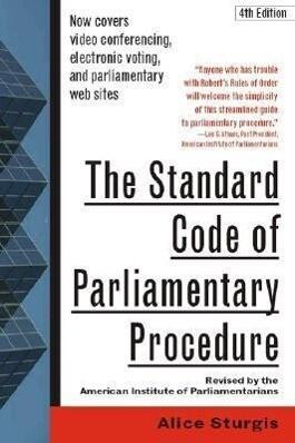 The Standard Code of Parliamentary Procedure, 4th Edition als Taschenbuch