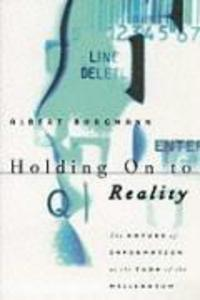 Holding on to Reality: The Nature of Information at the Turn of the Millennium als Taschenbuch