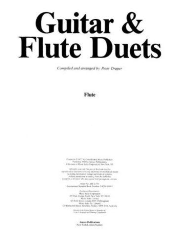 Guitar/Flute Duets Mfm 69 als Taschenbuch
