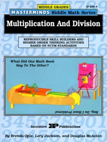 Masterminds Riddle Math for Middle Grades: Multiplication and Division: Reproducible Skill Builders and Higher Order Thinking Activities Based on Nctm als Taschenbuch