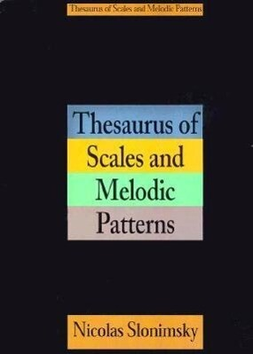 Thesaurus of Scales and Melodic Patterns als Taschenbuch