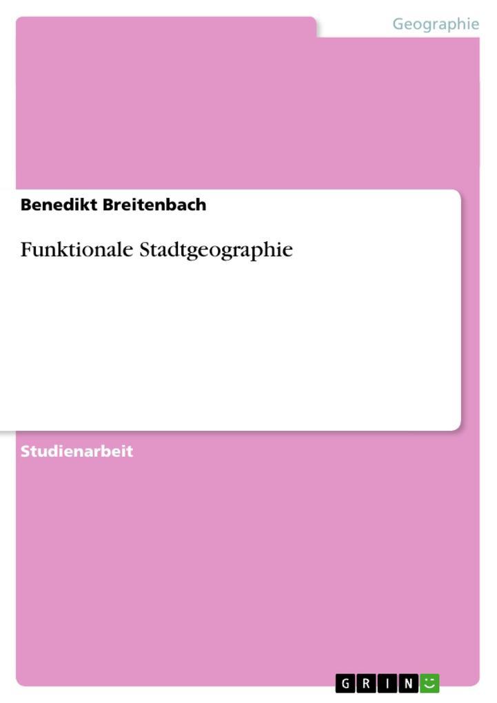 Funktionale Stadtgeographie als Buch (kartoniert)