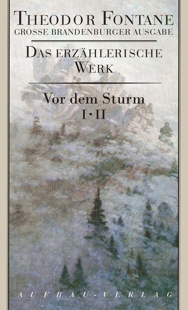 Große Brandenburger Ausgabe. Vor dem Sturm 1/2 als Buch