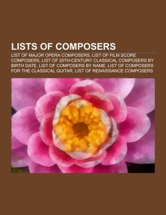 Lists of composers als Taschenbuch von