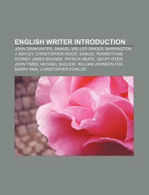 English writer Introduction als Taschenbuch von - Books LLC, Reference Series