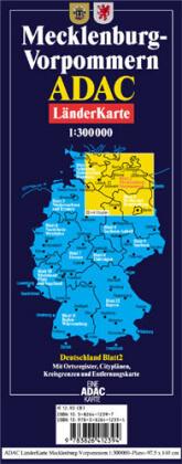ADAC LänderKarte Mecklenburg-Vorpommern plano 1 : 300 000 als Buch