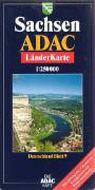 ADAC Länderkarte Sachsen plano 1 : 250 000 als Buch
