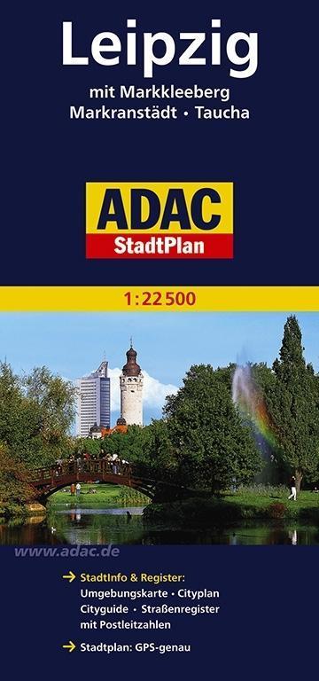 ADAC StadtPlan Leipzig mit Markkleeberg, Markranstädt, Taucha 1:22 500 als Buch