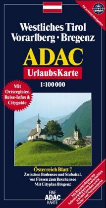 ADAC UrlaubsKarte Österreich Blatt 7, 1 : 100 000. Westliches Tirol, Vorarlberg, Bregenz als Buch