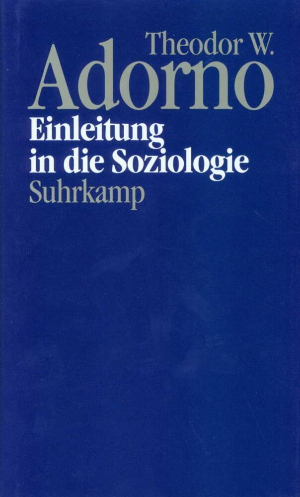 Einleitung in die Soziologie (1968) als Buch