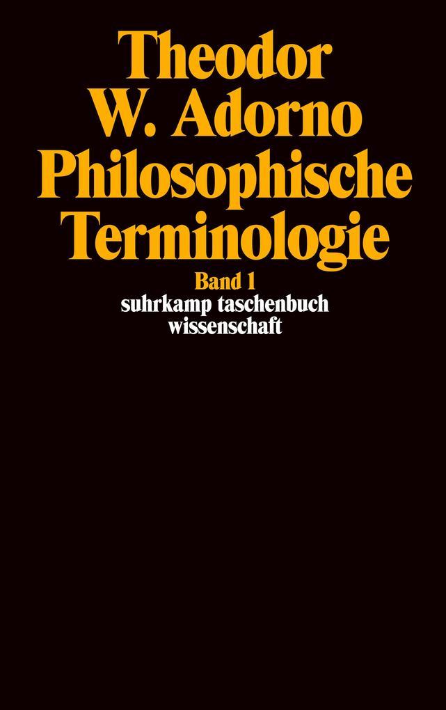 Philosophische Terminologie I als Taschenbuch