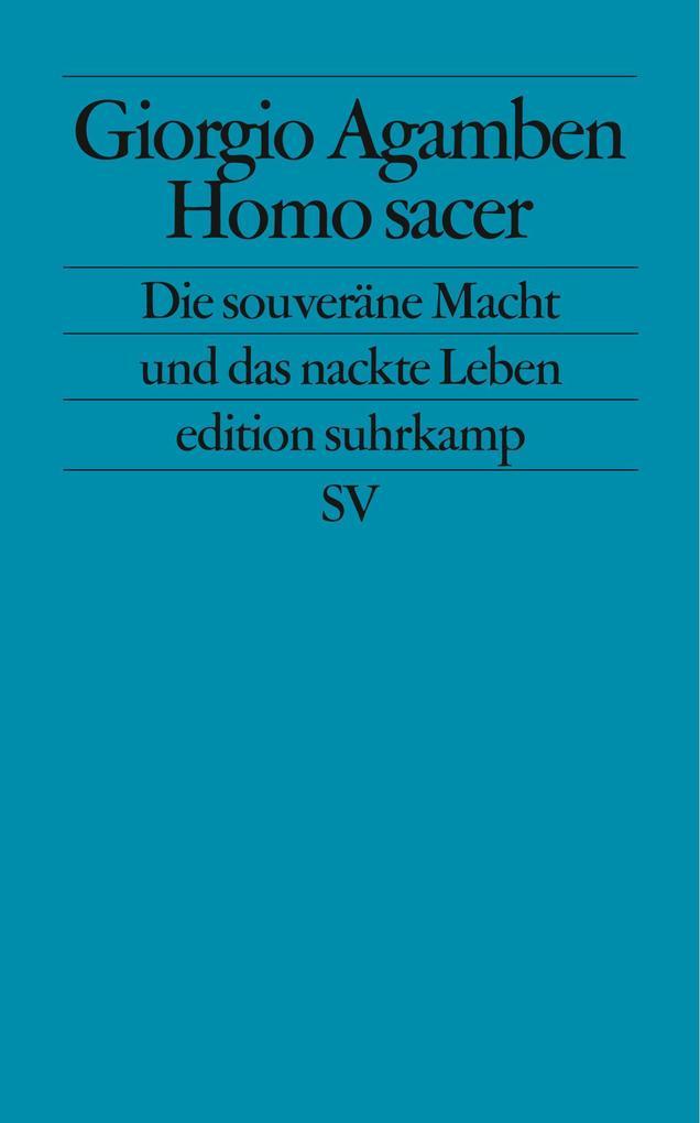 Homo sacer als Taschenbuch