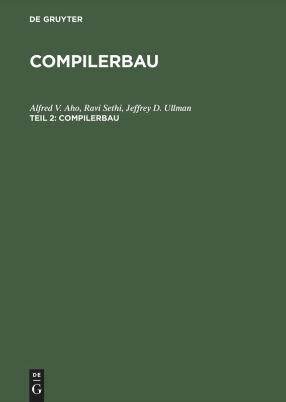 Compilerbau als Buch