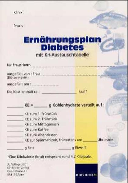 Ernährungsplan Diabetes mit KH-Austauschtabelle als Buch