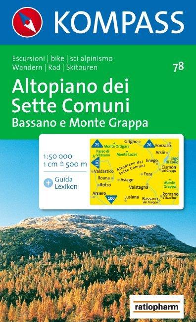 Altopiano dei Sette Comuni - Bassano e Monte Grappa 1 : 50 000 als Buch