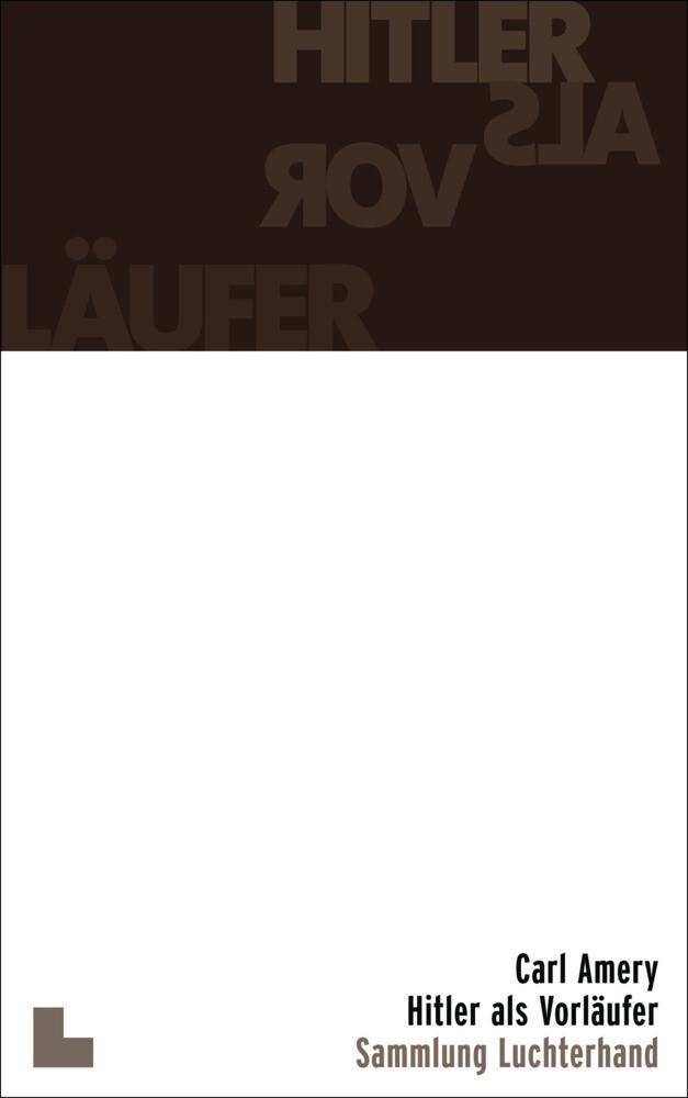 Hitler als Vorläufer als Taschenbuch