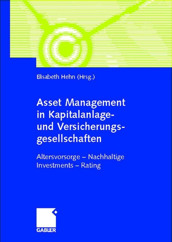 Asset Manager in Kapitalanlage- und Versicherungsgesellschaften als Buch