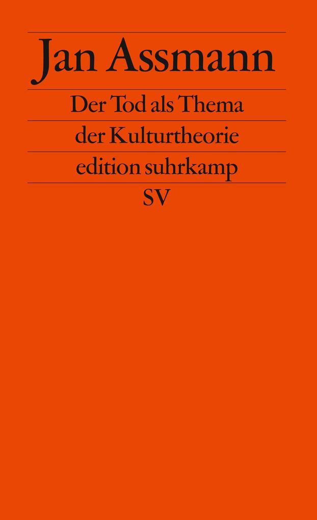 Der Tod als Thema der Kulturtheorie als Taschenbuch