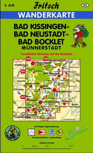 Bad Kissingen, Bad Neustadt, Bad Bocklet 1 : 35 000. Fritsch Wanderkarte als Buch