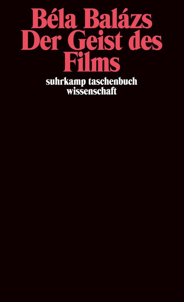 Der Geist des Films als Taschenbuch