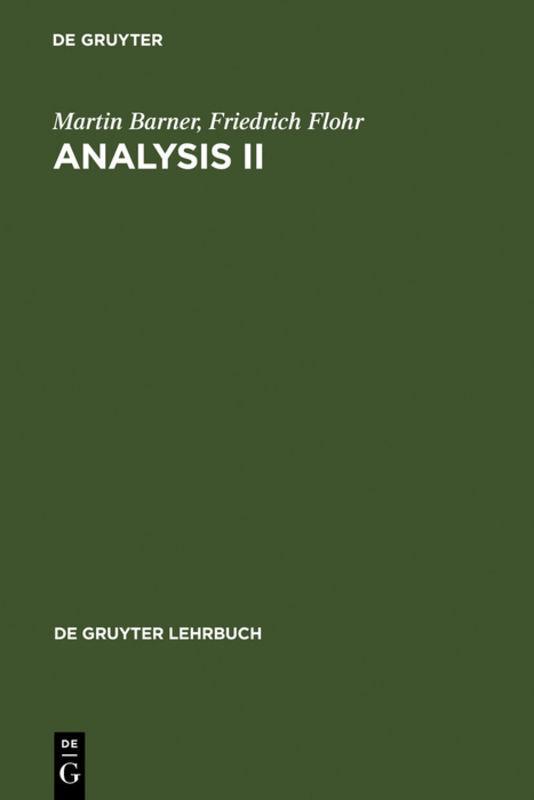Analysis II als Buch