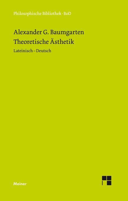 Theoretische Ästhetik als Buch