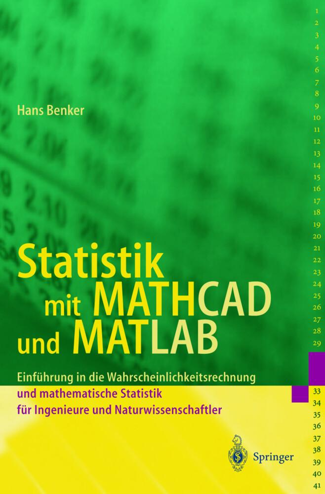 Statistik mit MATHCAD und MATLAB als Buch